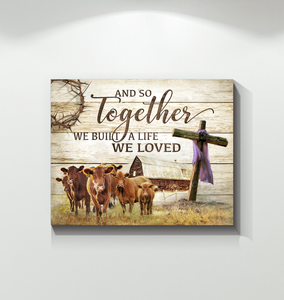 BENICEE Farm Red Angus And So Together Wall Art Canvas-Canvas Prints-Benicee