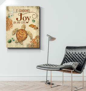 Canvas - Turtle - I Choose Joy in my life - Benicee