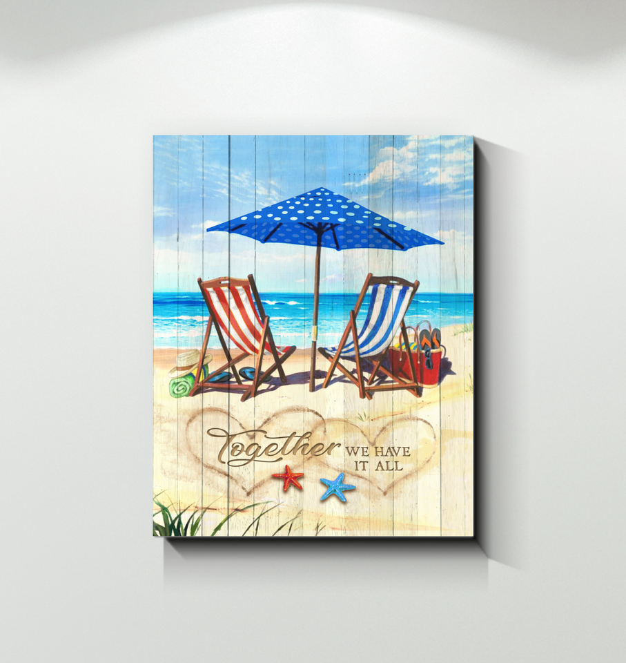 BENICEE Ocean Together We Have It All Wall Art Canvas-Canvas Prints-Benicee