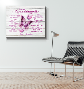 Canvas - Family - Pink Butterflies - Benicee