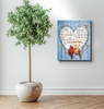 Memorial Gift Canvas Art - Cardinal Always I'll Love You Top 10 BENICEE-Canvas Prints-Benicee