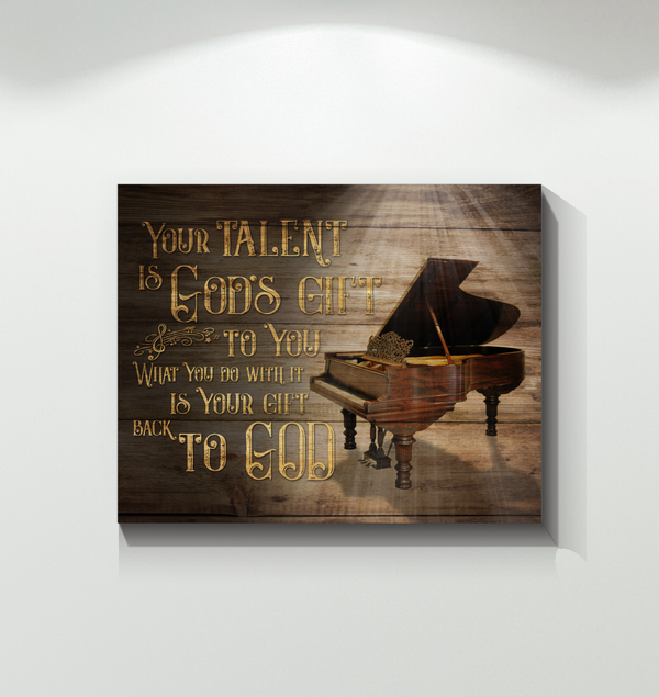 Canvas - Piano - Your talent is God gift - Benicee