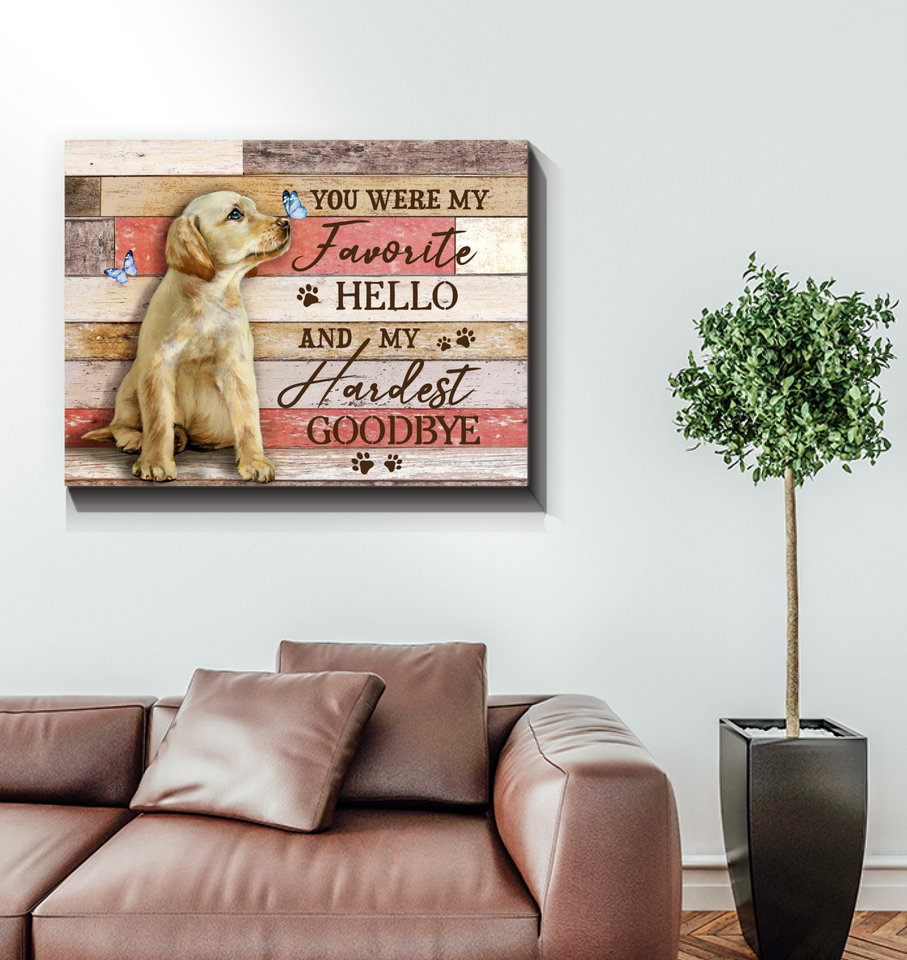 Canvas - Dog - Labrador - hardest goodbye - Benicee