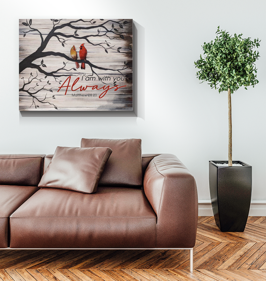 Memorial Gift Canvas - Heaven Cardinals I Am Always With You Top 5 BENICEE-Canvas Prints-Benicee