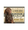 Canvas - Dog - Chocolate Labrador - I'll be there - Benicee