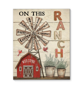 BENICEE Farm On This Ranch We Do Wall Art Canvas-Canvas Prints-Benicee