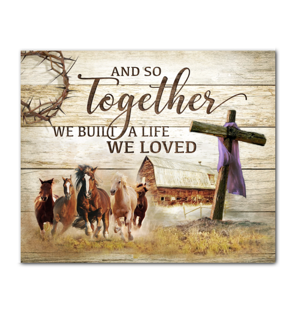 Canvas - Farm - Horse - And so together - Benicee