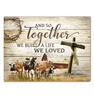 Canvas - Farm - Holstein & Jersey - And so together - Benicee