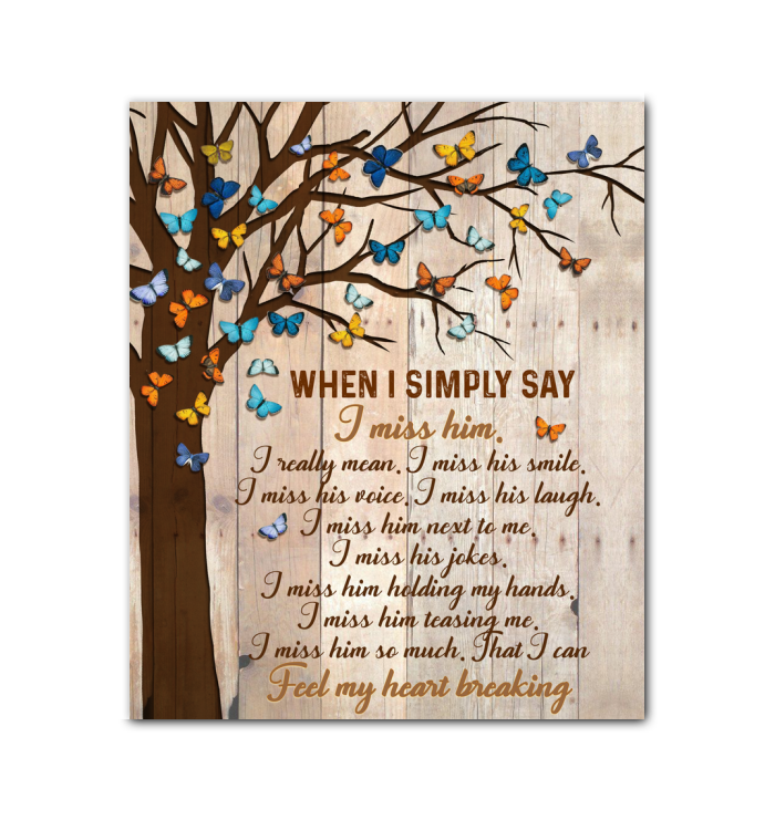 Memorial Gift Canvas Art - Heaven Butterfly When I Simple Say Top 5 BENICEE-Canvas Prints-Benicee