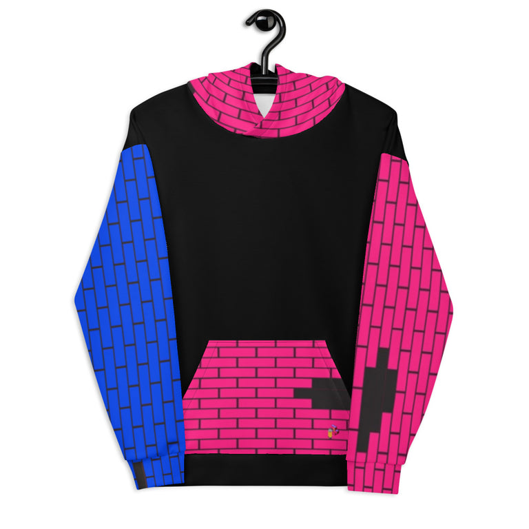 Color Block Brick Hoodie - Justin Don Shop