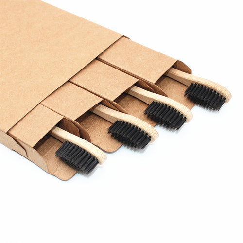 pack 4 brosses à dents en bambou 100% biodégradable