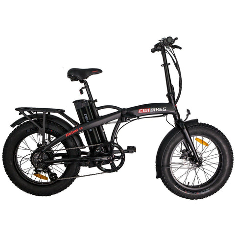 Civi Rebel 48 Volts 500 Watts 13 Amp Hours 20 Inch Fat Tires Folding Electric Bike