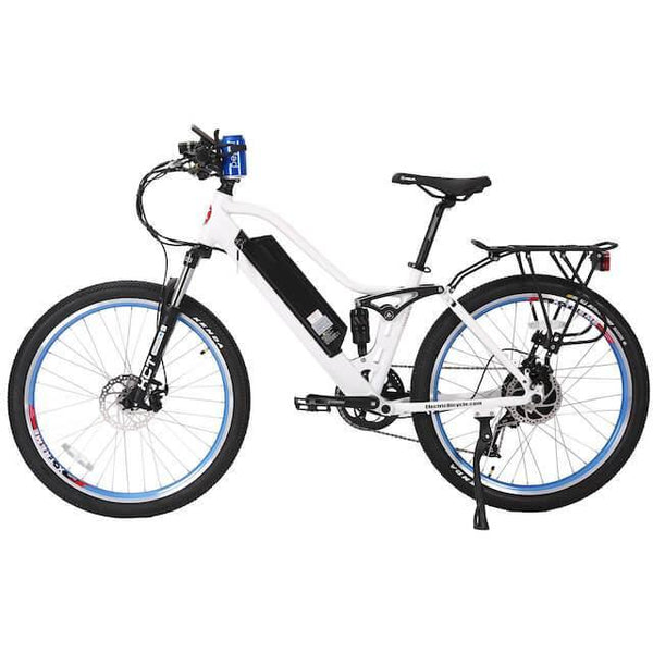 X-Treme Sedona 48 Volts 500 Watts 10 Amp Hours 26 Inch Tires Step Through Dual Suspension Electric Mountain Bike