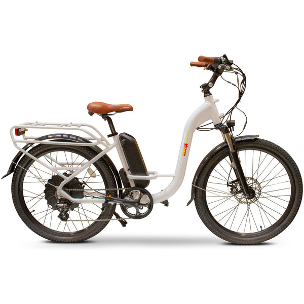 E-Wheels BAM Step Thru 48 Volts 750 Watts 14 Amp Hours 26 Inch Tires Electric Cruiser Bike