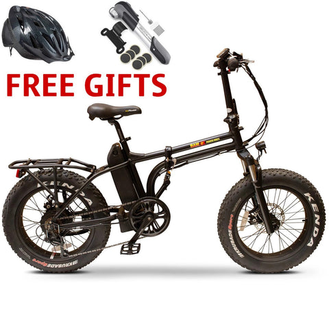 E-Wheels BAM Folding 48 Volts 750 Watts 14 Amp Hours 20 Inch Fat Tires Folding Electric Bike