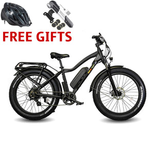 E-Wheels BAM Supreme 48 Volts 750 Watts 14 Amp Hours 26 Inch Fat Tires Electric Mountain Bike