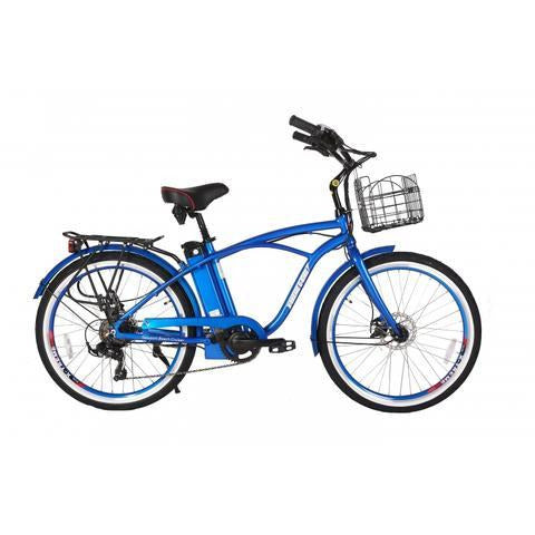 X-Treme Newport Beach Elite Max 36 Volts 350 Watts 10 Amp Hours 26 Inch Tires Electric Cruiser Bike