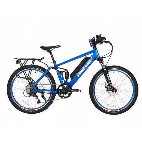 X-Treme Rubicon 48 Volts 500 Watts 10 Amp Hours 26 Inch Tires Dual Suspension Electric Mountain Bike