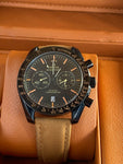 RACING OMEGA CO‑AXIAL MASTER CHRONOMETER CHRONOGRAPH | Brown Strap