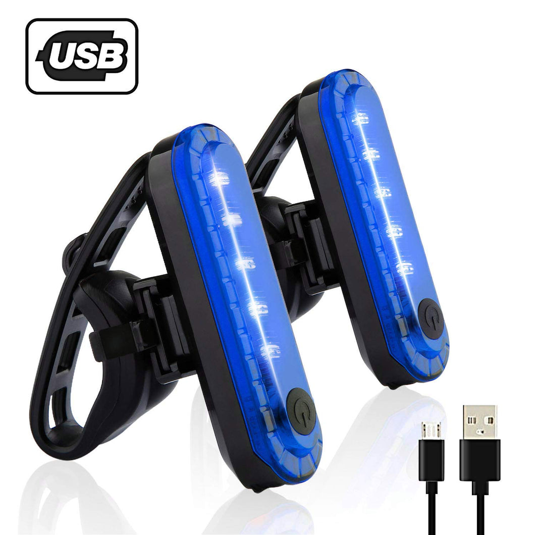 Rear Bike Tail Light 2 Pack (blue)