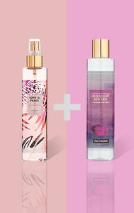 Love and Peace Fine Fragrance Mist and Midnight Kisses Fragrance Body Wash