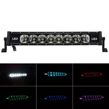 Load image into Gallery viewer, 22inch 72w LED Light Bar Single Row RGB