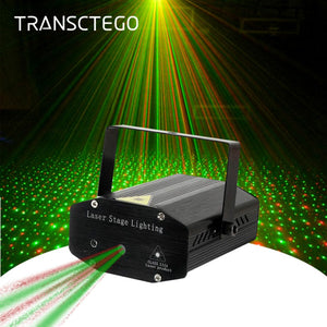 LED Laser Projector Disco Light Mini Auto Sound Activated Laser Remote DJ Disco Party