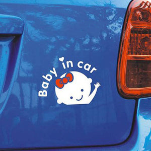 """Baby In Car"" Decals Stickers PVC reflective"