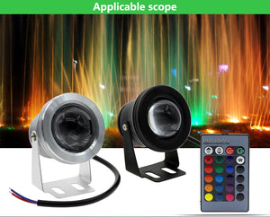RGB LED Waterproof Underwater Lights