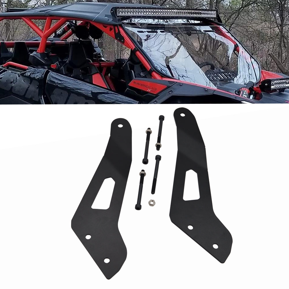 50 inch LED Light Bar Upper Roof Brackets for Can-Am Maverick X3 Max 2017-19