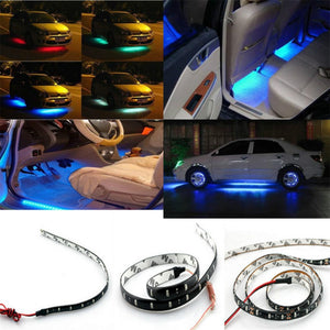 12-inch LED Motorcycle Strip Waterproof Flexible Under-body Lamp Red Green Blue White