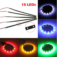 Load image into Gallery viewer, 12-inch LED Motorcycle Strip Waterproof Flexible Under-body Lamp Red Green Blue White