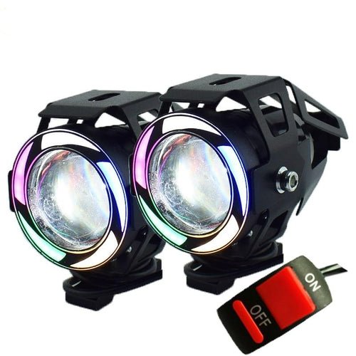 U7 Motorcycle LED Headlights 125w  auxiliary head lamp 5-colors
