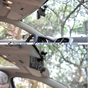 4'' Three Way Car DVR FHD Three Lens Video Recorder Camera 170 Wide Angle Dash Cam G-Sensor And Night vision Camcorder
