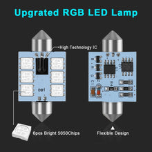 Load image into Gallery viewer, LED 31mm 36mm 39mm 41mm RGB Dome Light bulb 12V with Remote Control
