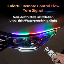 Load image into Gallery viewer, 12V LED Bendable Ultra-thin Paste RGB Running Lights With Switchbacks Light 2x