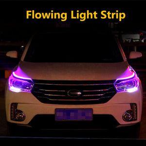 12V LED Bendable Ultra-thin Paste RGB Running Lights With Switchbacks Light 2x