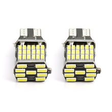 Load image into Gallery viewer, 2PCS Canbus T15 W16W 45SMD Car Backup Reverse Light White Stop Rear Lamp Error Free 6000K 12V