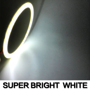 Single COB Car Angel Eyes Led Halo Ring Lights Fog Headlight Car  Motorcycle DC 12V all colors