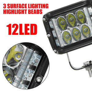 2Pcs 45W Off-road Led Combo Beams SUV ATV Tractor Boat Truck  Side Shooter Work Lights Pod