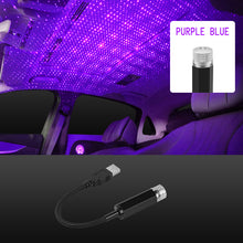 Load image into Gallery viewer, Car Roof Ambient Light USB Port Led Laser Galaxy