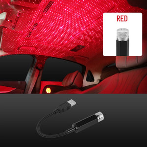 Car Roof Ambient Light USB Port Led Laser Galaxy