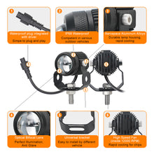 Load image into Gallery viewer, Led Headlight Work Fog Light 30W 24V Dual Color high/low Motorcycle  ATV SUV Tractor Yacht Truck