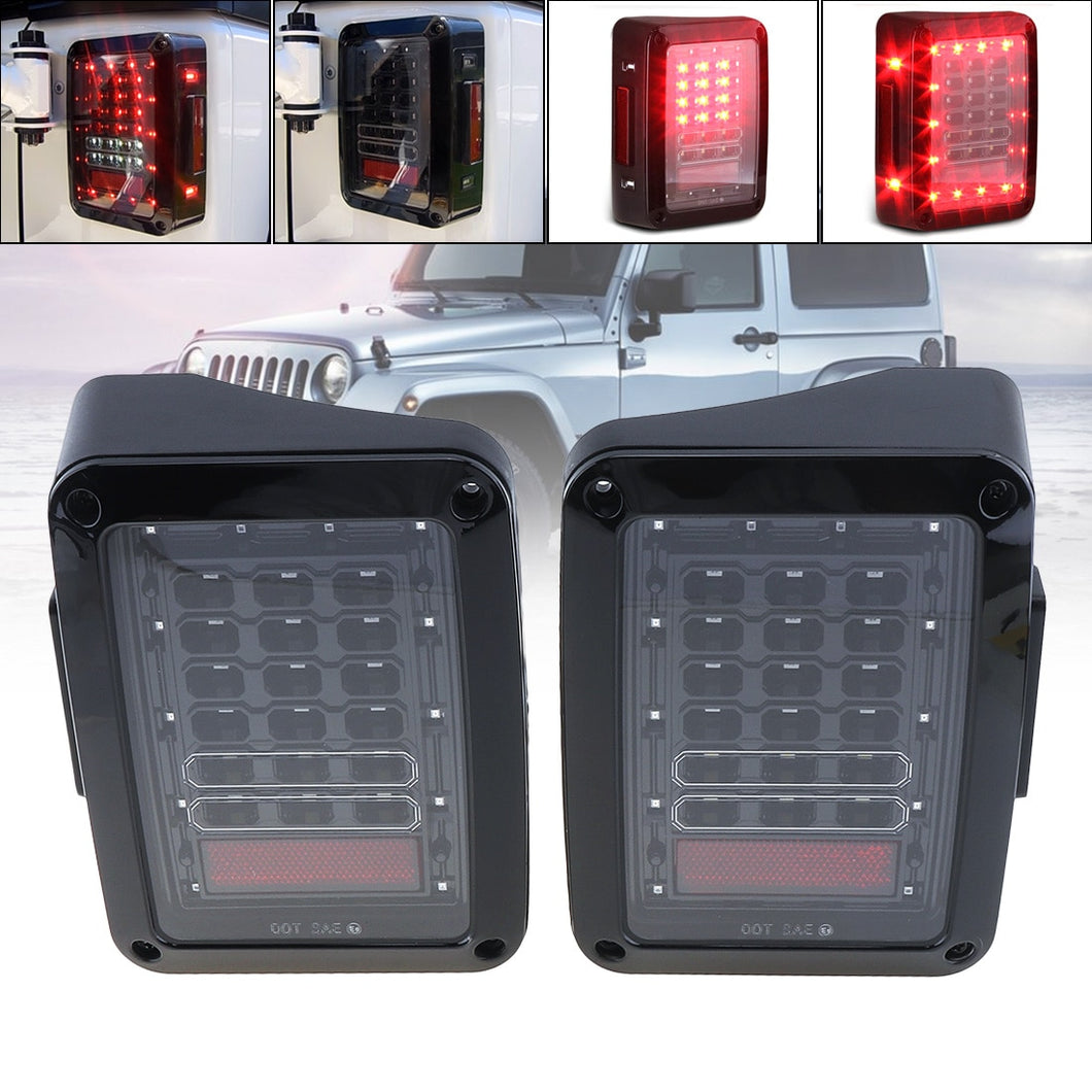 LED Tail Lights for 2007-2017 Jeep Wrangler DRL