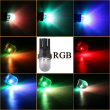 Load image into Gallery viewer, 10X 6 volt led R lens T10 W5W 6V 6.3V White Blue RGB Red Green Amber