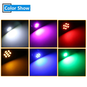 20X  6 volt led bulb T10 W5W 60Lm White Blue Red Green Amber Pink