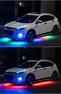 RGB Multicolor Flexible Flowing Car LED Light Underglow Waterproof Chassis Light