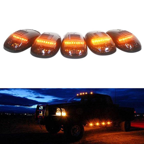 5pcs Cab Roof Clearance LED Lights For Chevy Dodge Ford GMC Trucks 12V