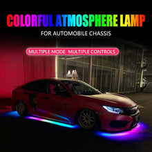 Load image into Gallery viewer, RGB Multicolor Flexible Flowing Car LED Light Underglow Waterproof Chassis Light