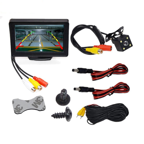 4.3 Inch TFT LCD Car Monitor Display Reverse Camera Parking Backup System for Car Rearview Monitors NTSC PAL